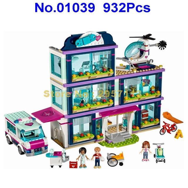 01039 932pcs Heartlake City Park Love Hospital Girl Friends Building Block Compatible 41318 Brick Toy