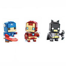 LegoINGlys Marvel Super hero Avengers Micro Diamond Building Block mini iron Man Batman Captain America figures bricks toys gift стоимость