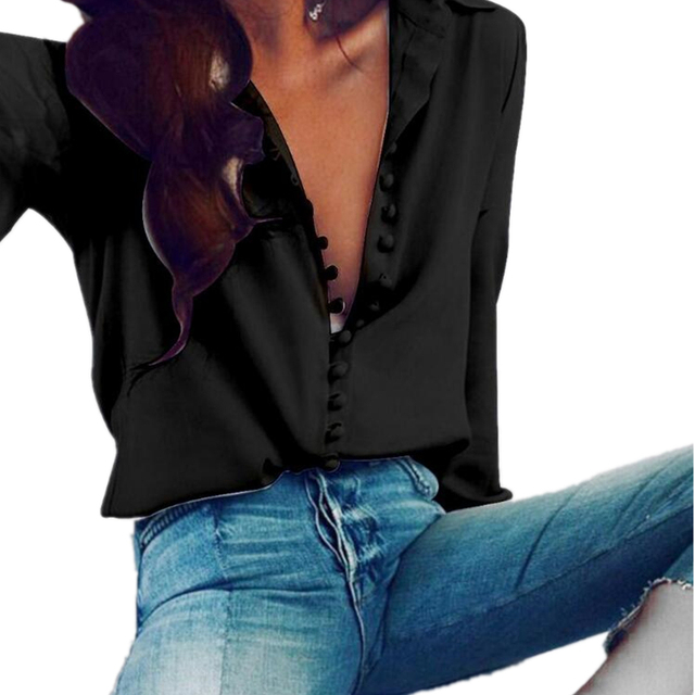 CUHAKCI Casual Tops Blouse Women Long Sleeve Shirt Button Club Female Turn-down Collar Plus Size Blouse 5XL Autumn Sexy Shirts 3