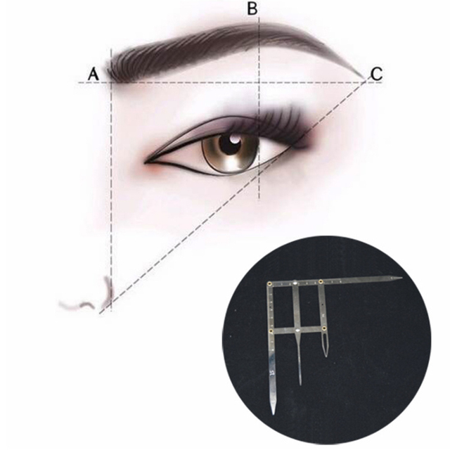 Permanent Makeup Ruler Golden Ratio Measure Microblading ruler eyebrow shaping Makeup Tattoo Shaping Stencil Measuring Tool 4