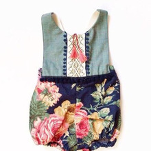 Summer Baby Girl Romper Tassel Toddler floral pompom Rompers Jumpsuit Infant Newborn Clothes