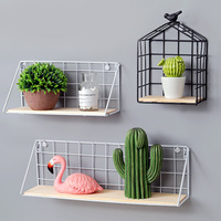 1Pcs Storage Holders Stacks Grid Wall Hanging Multi function Simplicity Lovely Kitchen Bathroom Screw Embedded 2018 Fashion