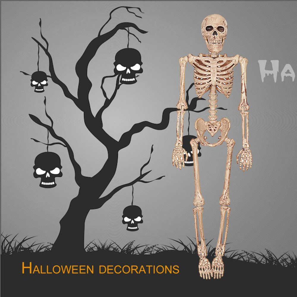 online shop new horrible halloween skeleton model small size movable skull skeleton halloween hanging props party scary decoration aliexpress mobile