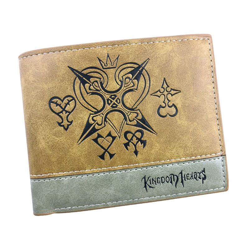 Hot Anime Kingdom Hearts Purse Embossing LOGO PU Leather Wallets for Men Women Lovely Card Holder Dollar Price Short Wallet пылесос bosch bgl35mov40