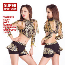 85394e86d Women Sexy Bar Dj Jazz Dance Costumes Dancers Nightclub Singer Hiphop  Clothes Modern Tassel Bodysuit DS Stage Wear Party Outfits