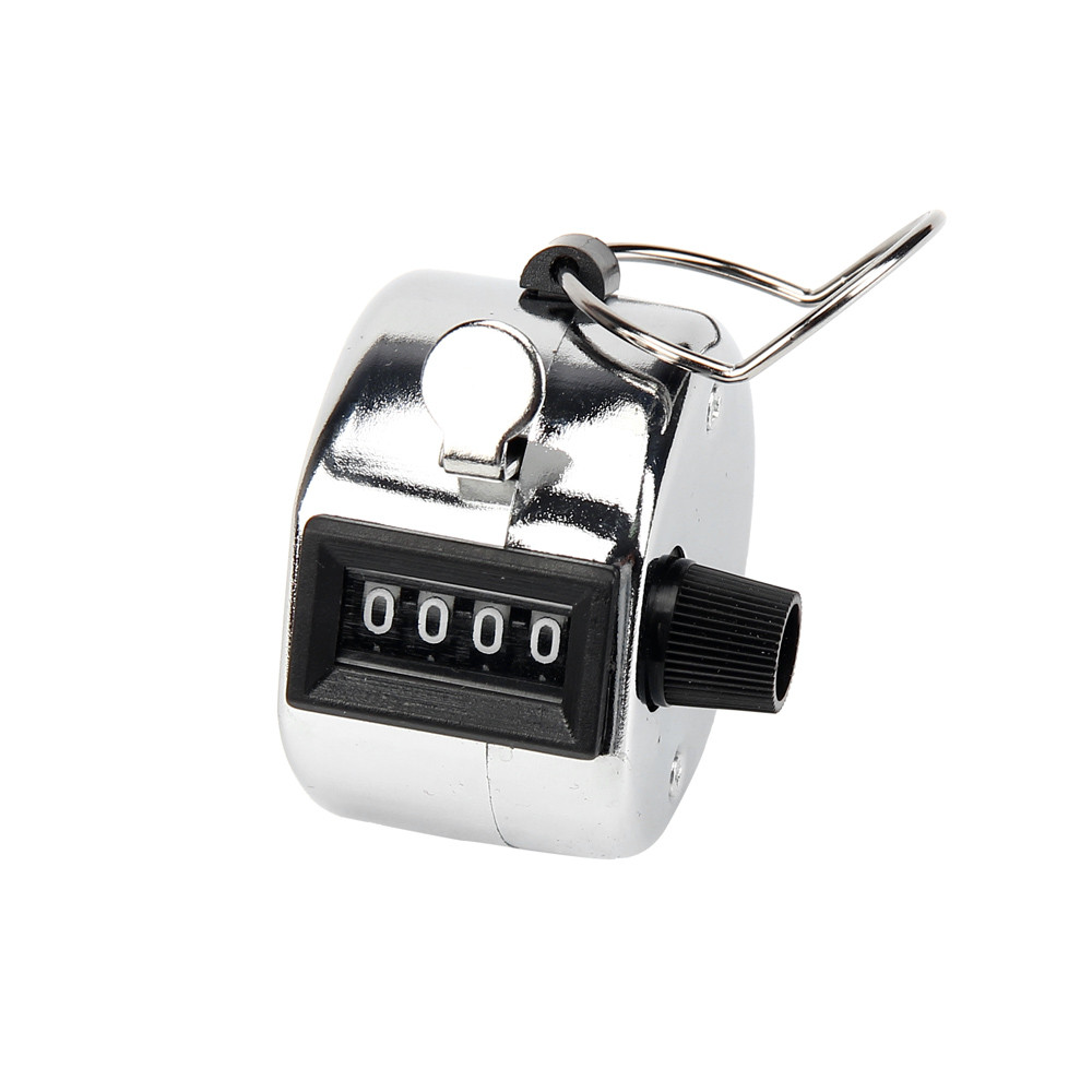 Jessica's Store Tally Counter Hand Held Clicker 4 Digit Chrome Palm Golf People Counting Club