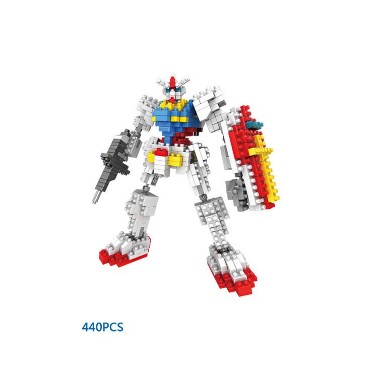 Hot Robot war gundams 0079 micro diamond building block model RX-78 assemblage bricks toys nanoblock collection for boys gifts цены онлайн