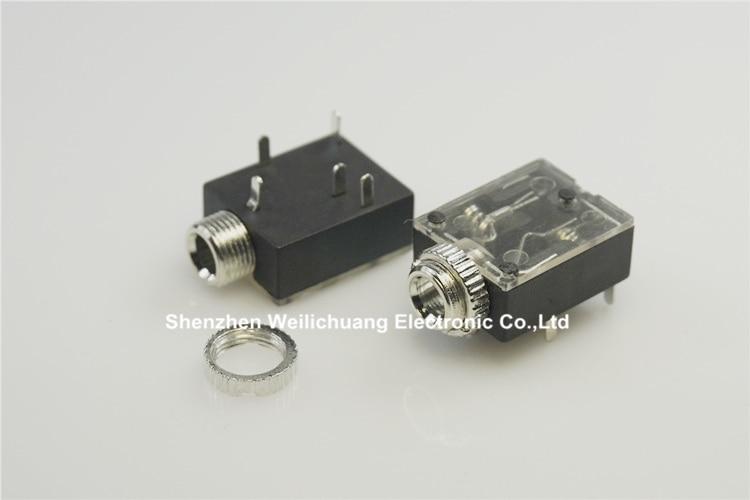 """10PCS 3.5mm 1//8/"""" Mini Female Headphone Jack Plug Stereo Audio Panel Mount"""