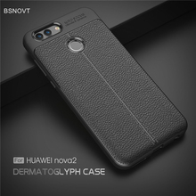For Huawei Nova 2 Case Shockproof Luxury Leather TPU Anti-knock Back Cover 5.0 BSNOVT