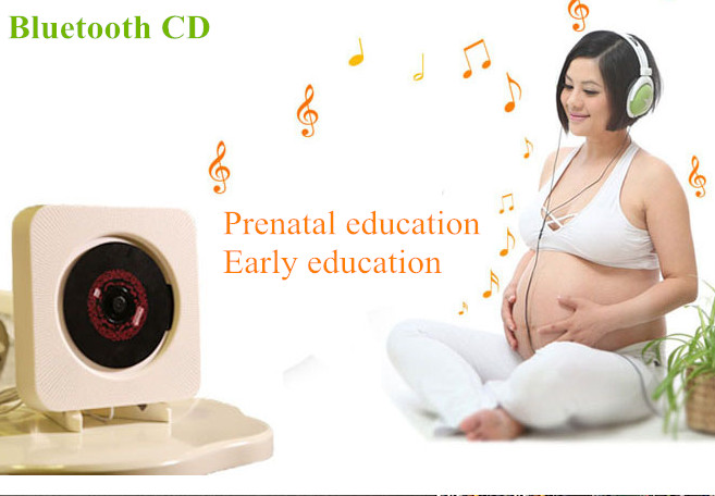 Wall-mounted CD player Bluetooth FM radio CD stereo prenatal fidelity digital amplifier Free Shipping 1 piece free shipping anodizing aluminium amplifiers black wall mounted distribution case 80x234x250mm