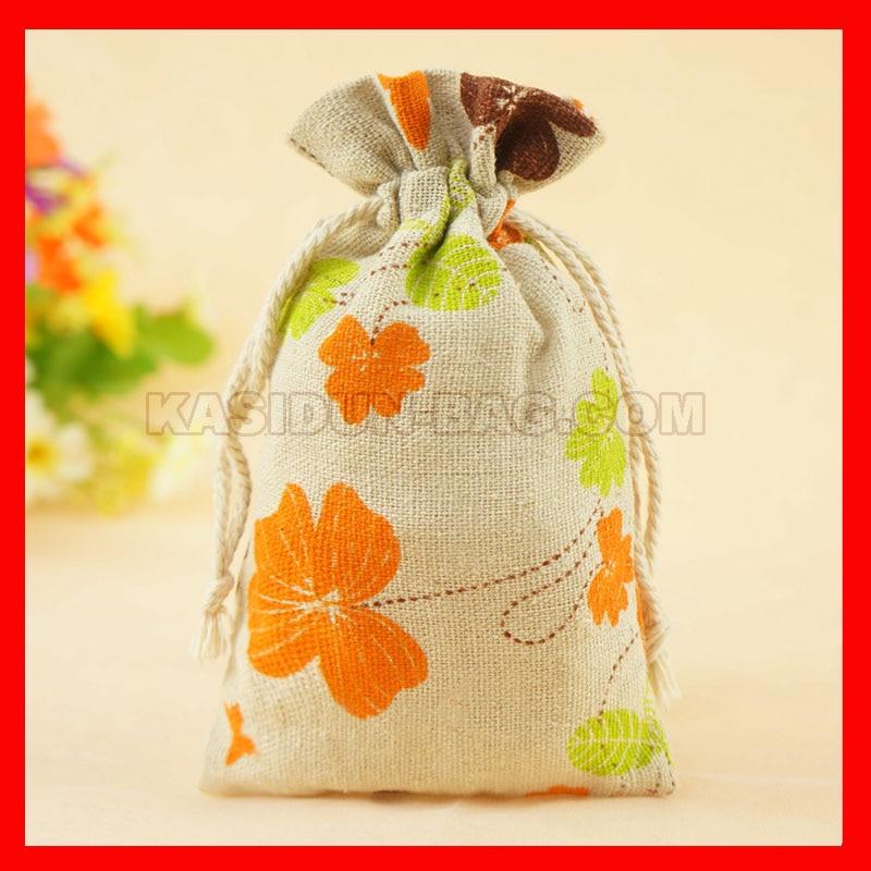 100pieces/lot wholesale cloth linen fabric bag gift