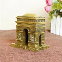 2017 World famous building modelos adornos Francia Paris Arc de Triomphe tienda de artesanías de decoración del hogar regalos de aleación de zinc