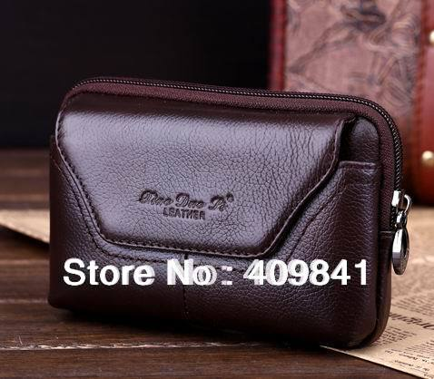 100 Genuine Leather Belt pouch Crossover Waist Case for Star F9006 mini MTK6582 Quad Core Android