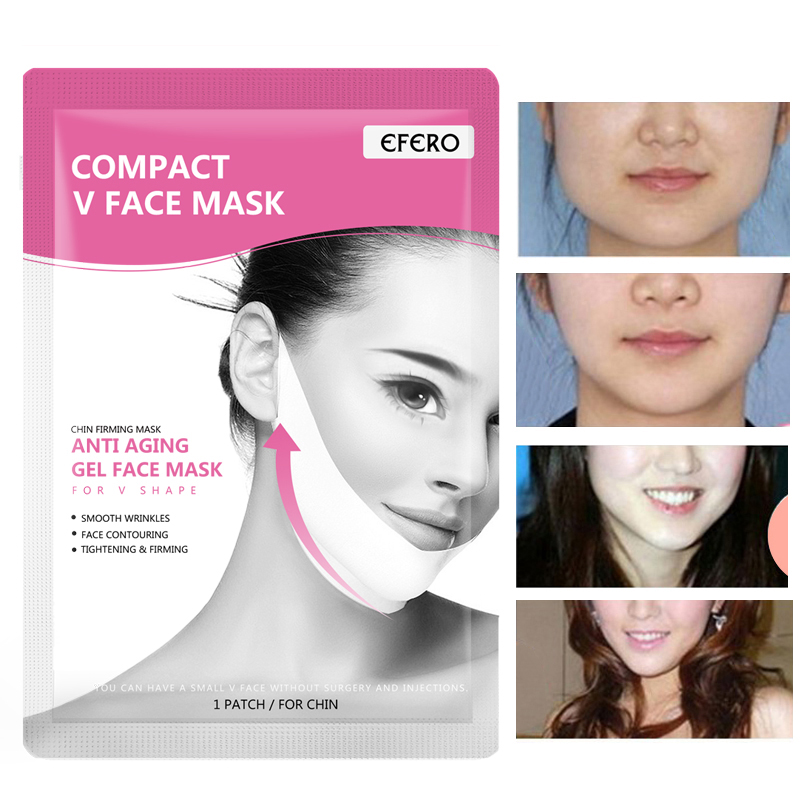 EFERO Gel Thin Face Mask V-line Face Bandage Belt Slimming Cheek Skin Care Anti-wrinkle Face Massager Lifting Slim Massage Tool