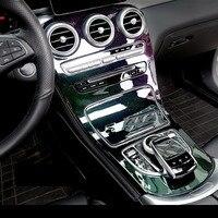 Красочные Стиль ABS Пластик Шестерни Сдвиг крышки отделкой для Mercedes Benz C GLC класса w205 c180l c200l C300 glc260 15 17 Бесплатная доставка