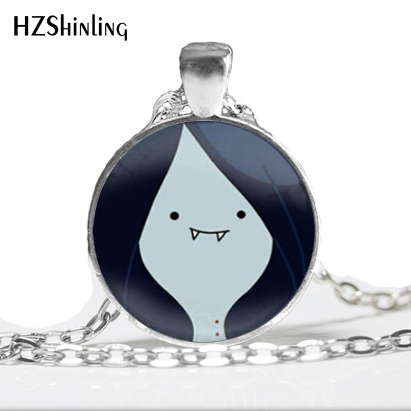 HZ--A71 2017 new Glass Dome Necklace Adventure Time Marceline Necklace Art Glass Pendant Necklace AdventureTime Jewelry HZ1