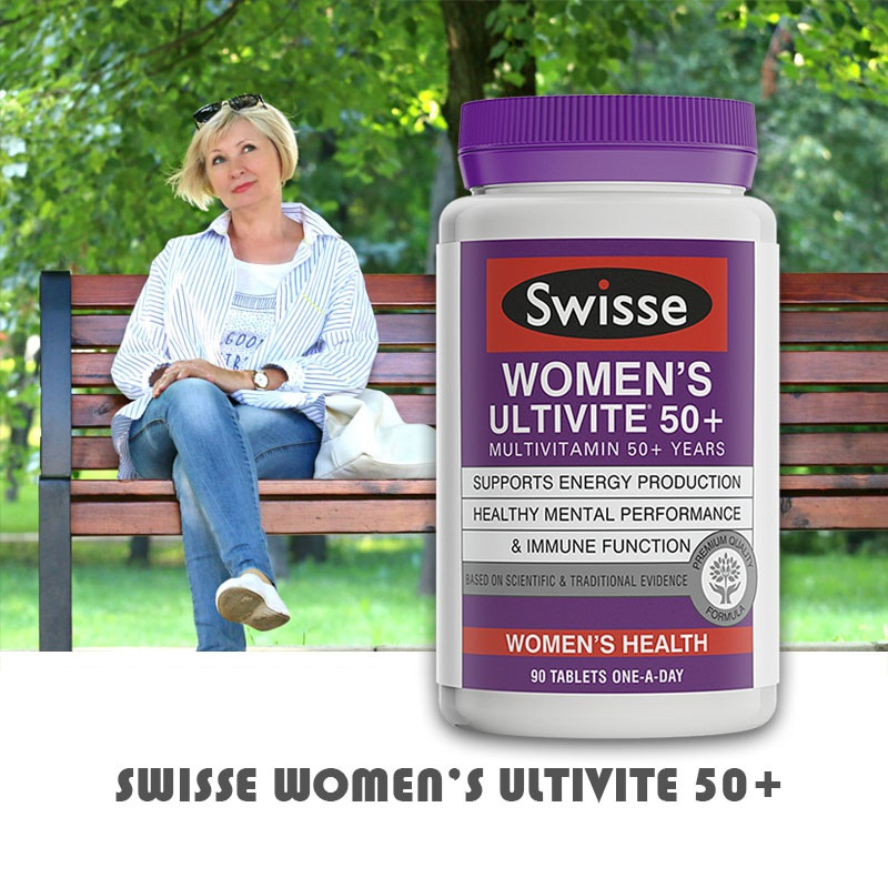 Australia Swisse Multivitamins for 50+Year Women Maintain Activity Energy Levels Mental Alertness Stamina Vitality During StressAustralia Swisse Multivitamins for 50+Year Women Maintain Activity Energy Levels Mental Alertness Stamina Vitality During Stress