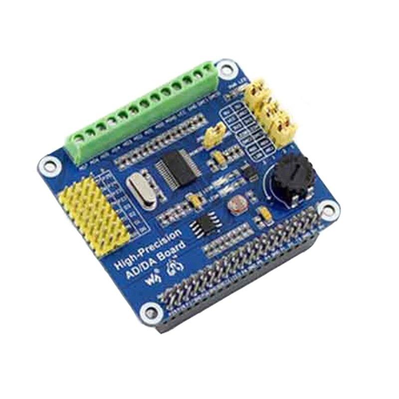 5pcs/lot High Precision AD/DA Module ADS1256 DAC8552 For Raspberry Pie 8 Channels 24 Bit High Precision ADC 10K Potentiometer