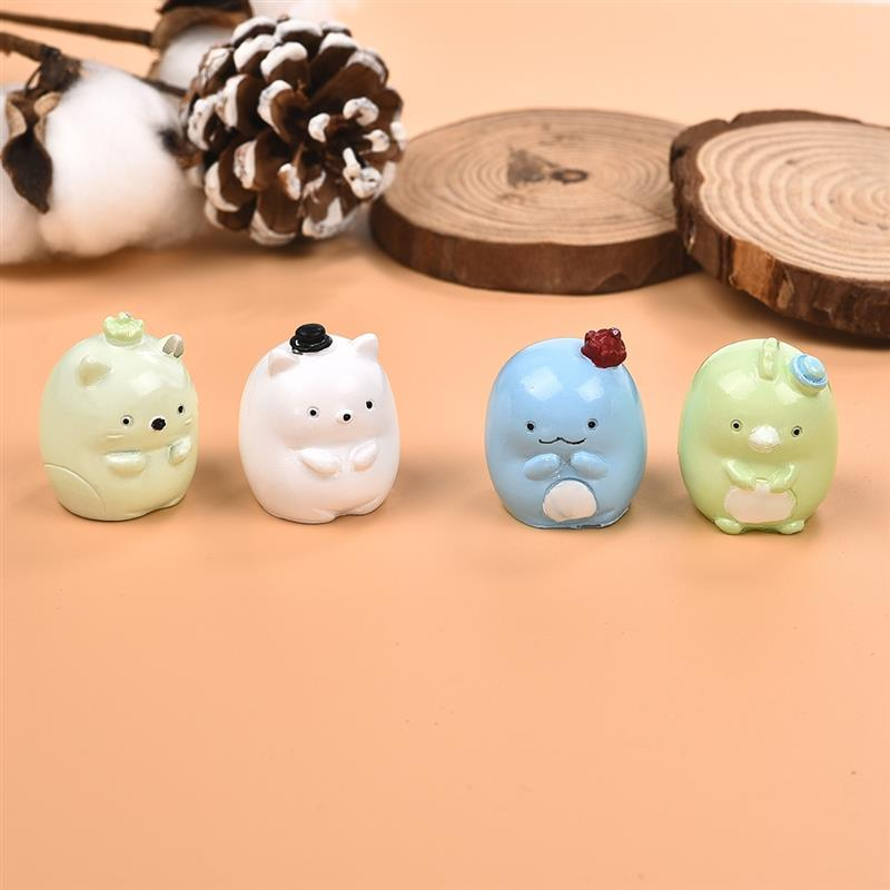 New 4Pcs/set Creative Cute Balls Animals Ornaments Decoration Crafts Cake Decoration Birthday Gifts For Kids