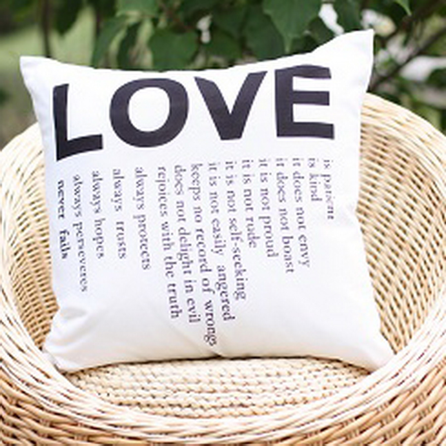 2017 Love You More Quote Linen Look Decorative Pillow Cover Lover Is  Patient Wedding Throw Pillow Cover Cushion Cover In Cushion Cover From Home  U0026 Garden On ...
