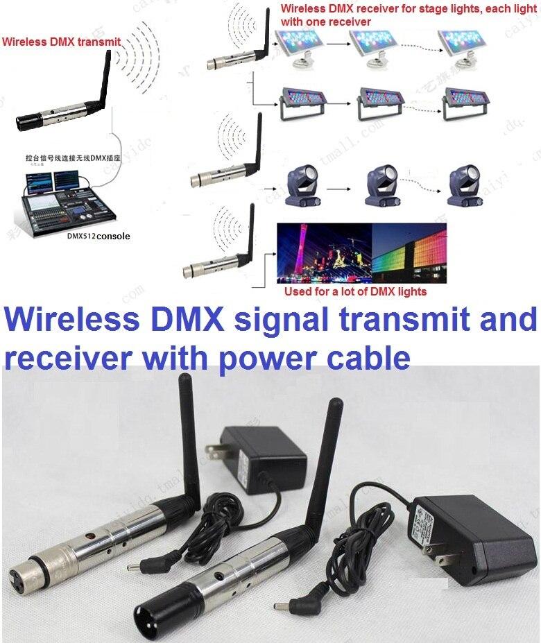 1 Pair Of 2 4G ISM DMX512 Wireless Female Male 3 Pins XLR Transmit Receiver Device