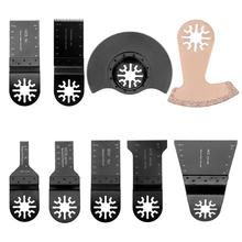 9PCS/set Oscillating Tool Saw Blades Accessories Fit for Multimaster Power Cutting Tools Accessories as Fein Dremel Freeshipping