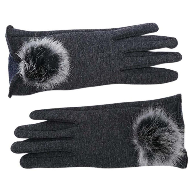 Stylish and Comfortable Touch Screen Gloves made of Cotton with Lace for All Touch Screen Device Suitable for Winter 2