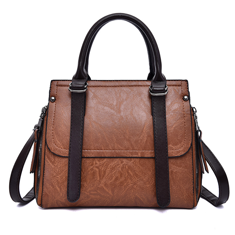ICEV korean style famous brands women's leather handbag designer high quality top handle bag ladies office clutches solid zipper