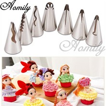 Aomily 7 stks/set Russische Rok Icing Piping Nozzles Decorating Tips Gereedschap Kit Bloem Bakkerij Cake Bakken Decorating Gereedschap Bakvormen(China)