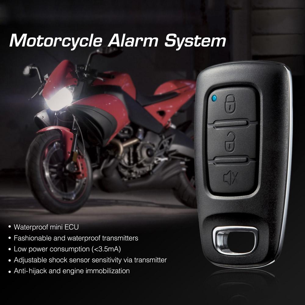 Prix pour Steelmate 886E Moto Système D'alarme Résistant À L'eau ECU Moto D'immobilisation Du Moteur avec Émetteur pour Moto