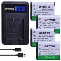 4 Pcs EN-EL19 EN EL19 Bateria Da Câmera + Dual USB Carregador de bateria para Nikon Coolpix S2600 S2700 S3100 S3500 S4100 S4150 S4400 S5200 S6400