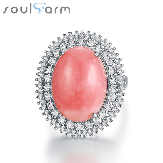 2016 New Arrival 925 Sterling Silver ring pink Opal for Party Engagement Anniversary for woman