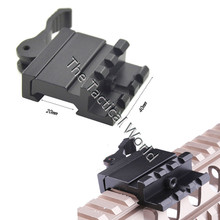 Tactical 45 Degree Picatinny Weaver Rail Mount Single 20mm Rail Angle Mount with QD Lever Lock