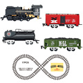 Accessories for Classic toys Enlighten Train Battery Operated Railway Car Electric Train Set with Sound&Smok Rail Car