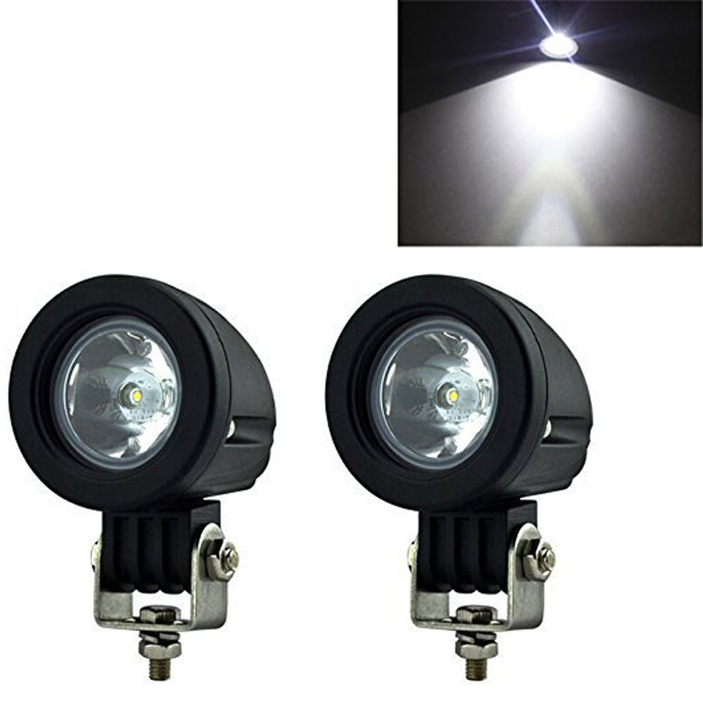 2pcs 10W Motorcycle Bicycle Spot LED Work Light Square 30 Degree for Jeep Cabin Boat SUV Truck Car ATVS Led Work Light