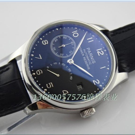 43 mm PARNIS black dial ST2530 Automatic Self Wind movement men s watch Casual watch wholesale