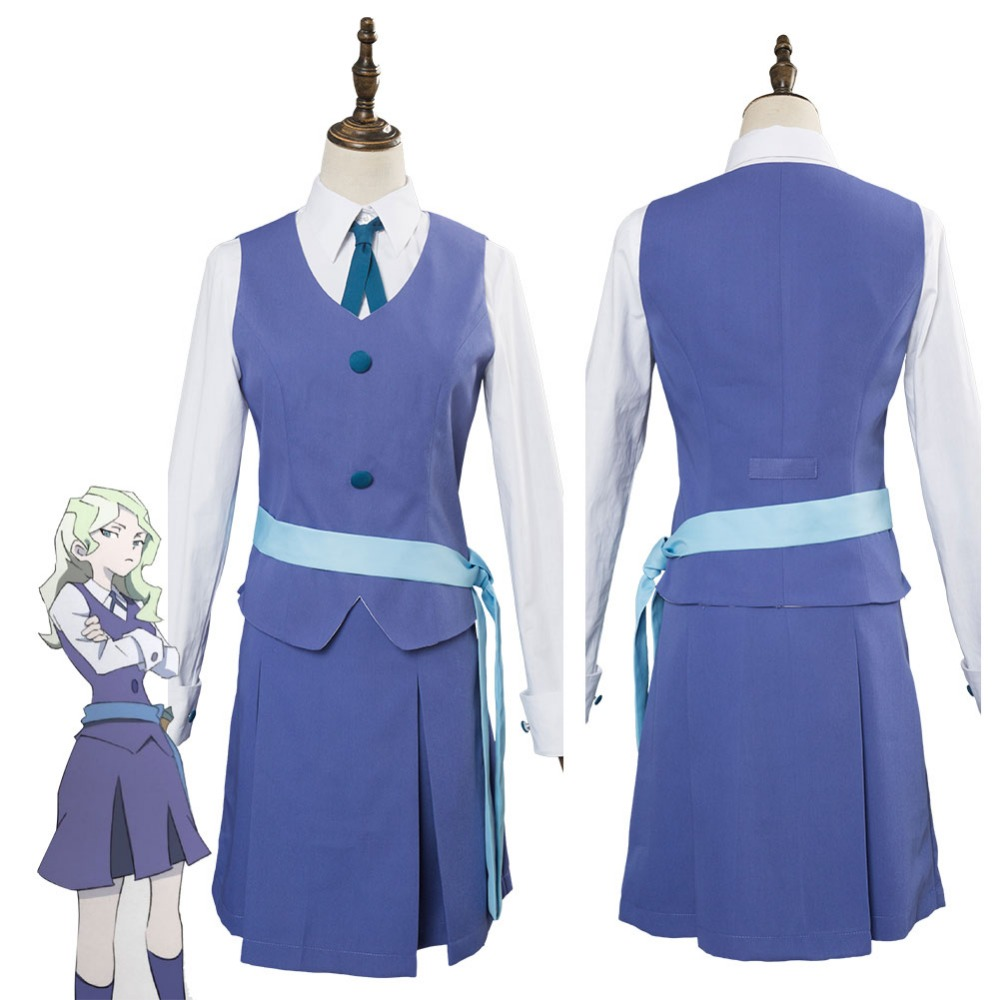 Little Witch Academia Diana Cavendish Cosplay Costume Uniform Dress Suit For Adult Women Halloween Carnival Cosplay Costumes