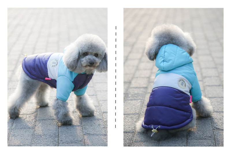 Waterproof and Hooded Dog Jacket with Leash Hole Ideal for Autumn/Winter Season 17