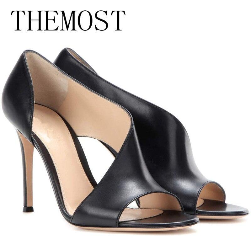 Themost 2018 au début du printemps nouvelle Rome creusé de femmes sexy de mode sandales, talons hauts et de luxe femmes chaussures