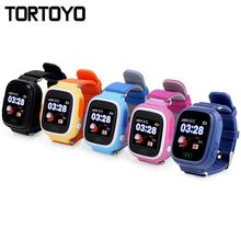 TORTOYO Q90 Kid Smart Watch Phone Touch Screen GPS+LBS+WIFI Positioning Tracking Watch SOS Call Safe Monitor Anti Lost Baby Gift zgpax pg88 gsm watch phone w 1 44 lcd screen quad band gps positioning and sos black silver