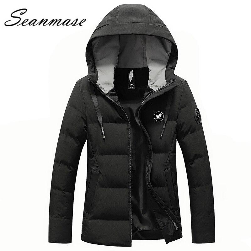 2018 Heißer Verkauf Winter Jacke Für Männer Warme Parkas Zipper Casual Verdickung Kleid 4xl Plus Größe Mit Kapuze Graben Mantel Zz090