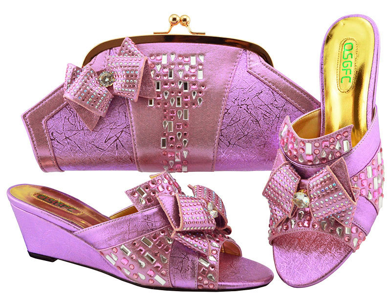 High Quality African Shoes And Bag Set For Wedding Party Fashion Italian Design Shoes With Matching Bag Set MM1072 hot artist italian design shoes with matching bag set for wedding african style rhinestone high heels shoes and bag set tx 998