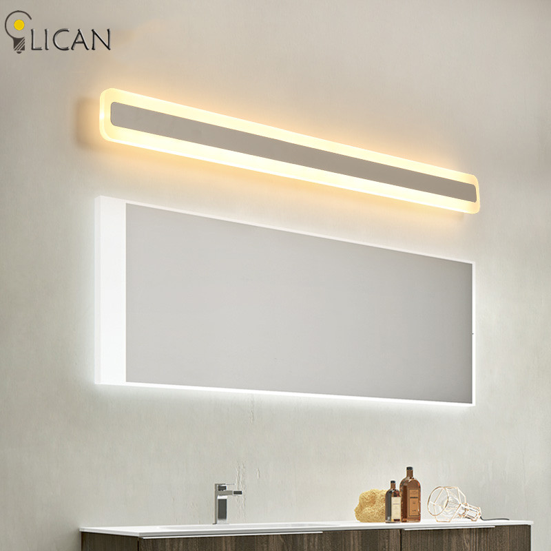 New Led Mirror Wall Light stainless steel AC85-265V Modern Wall Lamp Sconces Apliques Pared bathroom mirror Lights Waterproof zinuo modern led mirror light 6w 12w waterproof 33cm 53cm for bathroom wall sconce lamp apliques de pared luz ac 90v 260v