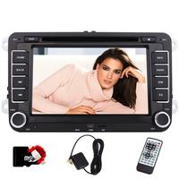 7'' Double Din Car Stereo For VW GOLF 5 6 POLO JETTA TOURAN EOS PASSAT CC TIGUAN+CANBUS For Steering Wheel Control+8GB Map card