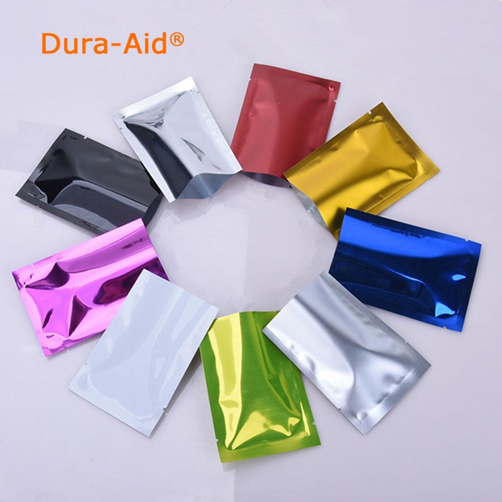 100 stks / 500 stks Dura-Aid Open Top Kleur Aluminiumfolie Plastic - Home opslag en organisatie - Foto 1