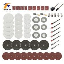 61pc dremel conjunto de acessórios ferramenta rotativa kits discos de corte moagem polimento polimento abrasivo apto para dremel de madeira 3000 moedor