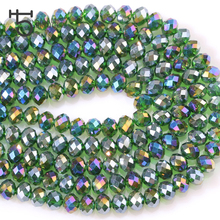 4 6 8 mm Faceted Rondelle Wheel Crystal Glass Bead String Spacers Beads For Bracelets Diy Accessories Loose Beads Wholesale Z145