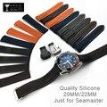 Силиконовые ремешки для часов с изогнутым концом  20 мм  22 мм  19 мм  21 мм  для Omega-Watch AT150  Seamaster-007  для Seiko-ремешок  брендовый ремешок для часов
