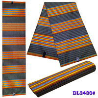 SMT!Ghana Kente Wax Fabric Veritable hitarget Wax African Kente Prints Real Java Wax Fabric for Cloth in 6 yards ! P72460