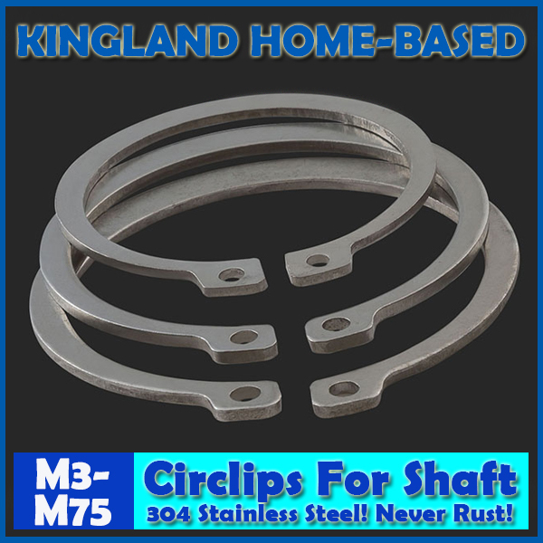 M3-M75 304 Stainless Steel E Clip Washer Assortment Kit Circlip Retaining Ring For Shaft Fastener Hardware 0805 0603 0402 1206 smd capacitor resistor assortment combo kit sample book lcr clip tweezer